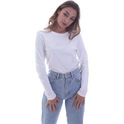 textil Mujer Camisetas manga larga Calvin Klein Jeans K20K202386 Blanco