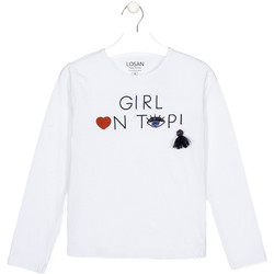 textil Niños Camisetas manga larga Losan 024-1021AL Blanco