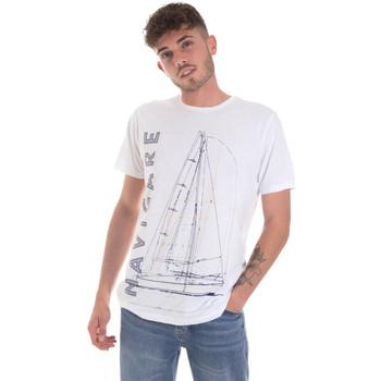 textil Hombre Camisetas manga corta Navigare NV31109 Blanco