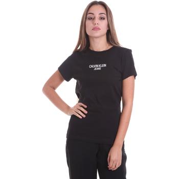 textil Mujer Camisetas manga corta Calvin Klein Jeans J20J214232 Negro