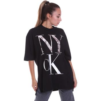 textil Mujer Camisetas manga corta Calvin Klein Jeans J20J214436 Negro