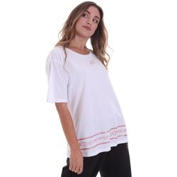 textil Mujer Camisetas manga corta Ea7 Emporio Armani 6HTT32 TJ52Z Blanco