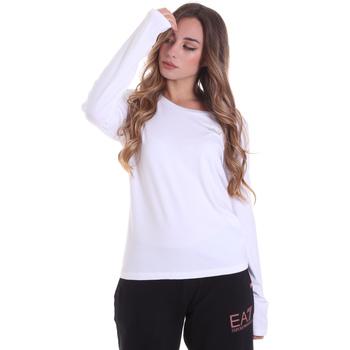 textil Mujer Camisetas manga larga Ea7 Emporio Armani 6HTT04 TJ28Z Blanco