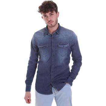 textil Hombre Camisas manga larga Gaudi 021GU46001 Azul