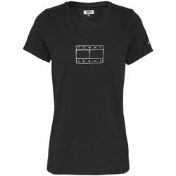 textil Mujer Camisetas manga corta Tommy Jeans DW0DW08473 Negro