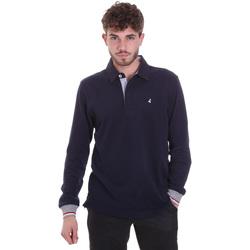textil Hombre Polos manga larga Navigare NV32023 Azul