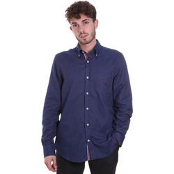 textil Hombre Camisas manga larga Navigare NV91135 BD Azul