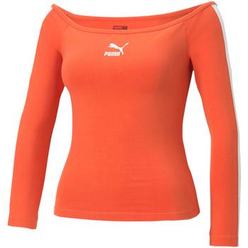 textil Mujer Camisetas manga larga Puma 530376 Naranja
