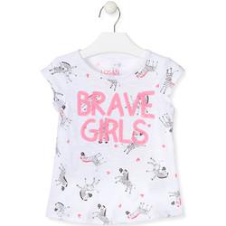 textil Niña Camisetas sin mangas Losan 017-1016AL Blanco
