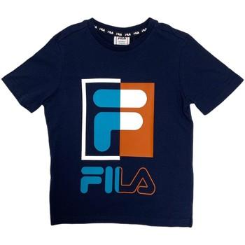 textil Niños Camisetas manga corta Fila 688149 Azul