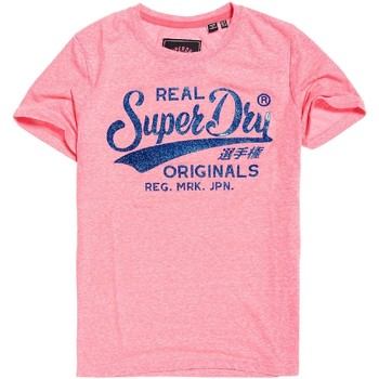 textil Mujer Camisetas manga corta Superdry G10135TT Rosado