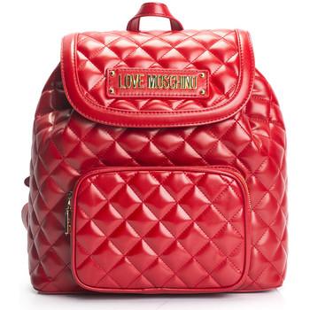 Bolsos Mujer Mochila Love Moschino  Rojo