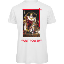textil Hombre Camisetas manga corta Openspace Art Power blanco