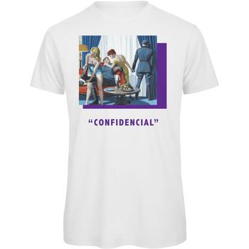 textil Hombre Camisetas manga corta Openspace Confidencial blanco