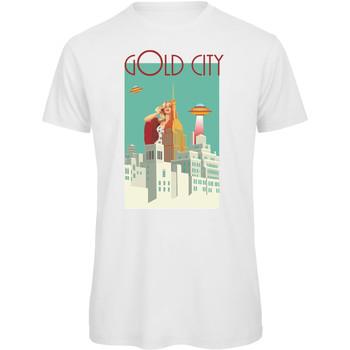 textil Mujer Camisetas manga corta Openspace Gold City blanco