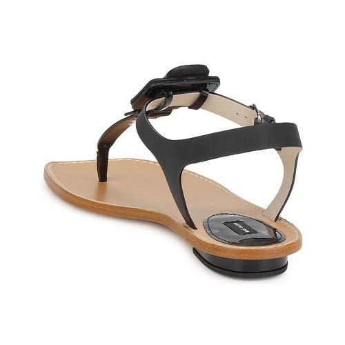 Negro Calf Marc Jacobs Mujer Chic Sandalias Zapatos v80mNwn