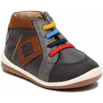 Zapatos Niño Botas de caña baja Garvalin 248 Gris