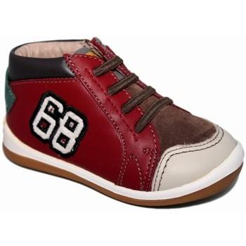 Zapatos Niño Zapatillas altas Garvalin 3981 Rojo