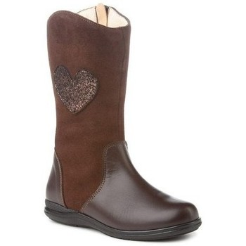 Zapatos Niña Botines Cbp - Conbuenpie Botas de piel para niña by CBP Marron