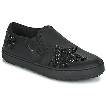 Zapatos Niña Zapatillas bajas Geox J KALISPERA FILLE Negro