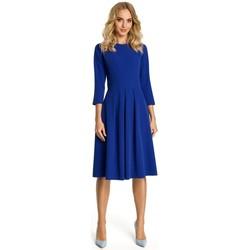 textil Mujer Vestidos cortos Moe M335 Vestido con pliegues en la parte delantera - azul real