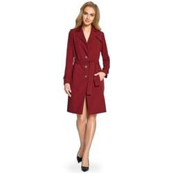 textil Mujer Vestidos cortos Style S094 Abrigo de trinchera - granate