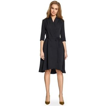 textil Mujer Vestidos cortos Style S099 Vestido de línea asimétrica - negro
