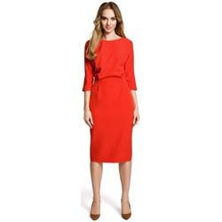 textil Mujer Vestidos cortos Moe M360 Vestido de largo medio con top suelto - rojo