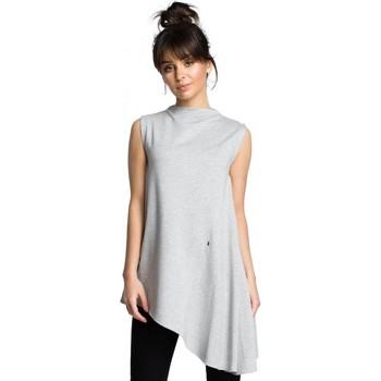 textil Mujer Tops / Blusas Be B069 Top asimétrico sin mangas - gris
