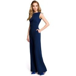 textil Mujer Monos / Petos Style S115 Mono de pierna ancha - azul marino