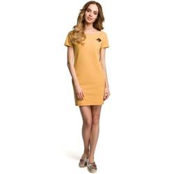 textil Mujer Vestidos cortos Moe M374 Minivestido con distintivo - amarillo