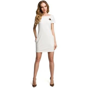 textil Mujer Vestidos cortos Moe M374 Minivestido con escudo - crudo