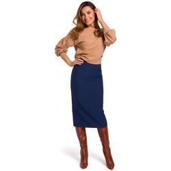 textil Mujer Faldas Style S171 Falda lápiz de cintura alta - azul marino