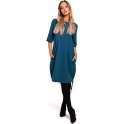 textil Mujer Vestidos cortos Moe M451 Vestido con dobladillo inferior atado - azul marino