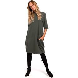 textil Mujer Vestidos cortos Moe M451 Vestido con dobladillo inferior atado - verde militar