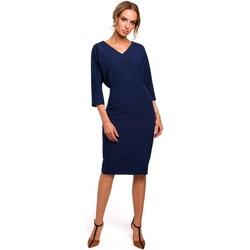 textil Mujer Vestidos cortos Moe M464 Vestido de manga murciélago - azul marino