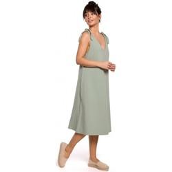 textil Mujer Vestidos Be B148 Vestido trapecio con tirantes - pistacho