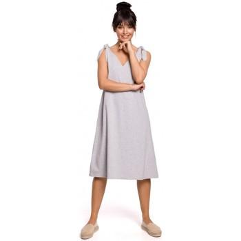 textil Mujer Vestidos cortos Be B148 Vestido trapecio con tirantes - gris