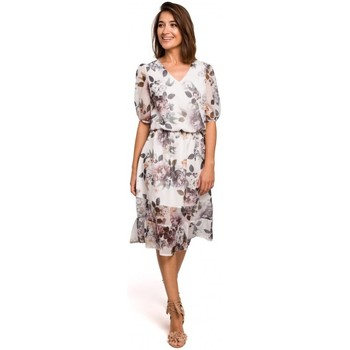 textil Mujer Vestidos Style S215 Vestido de gasa con dobladillo de volantes - modelo 1