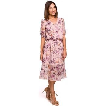 textil Mujer Vestidos Style S215 Vestido de gasa con dobladillo de volantes - modelo 2