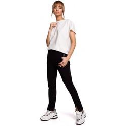 textil Mujer Pantalones chinos Moe M493 Pantalones de pernera dividida - negro