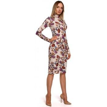 textil Mujer Vestidos largos Moe M543 Vestido estampado con cuello alto - modelo 3