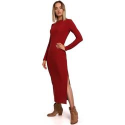 textil Mujer Vestidos largos Moe M544 Maxivestido con abertura en la pierna - rojo ladrillo
