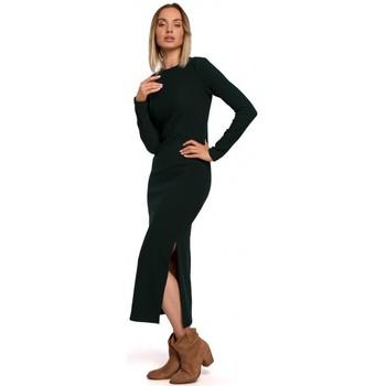 textil Mujer Vestidos largos Moe M544 Maxivestido con abertura en la pierna - verde