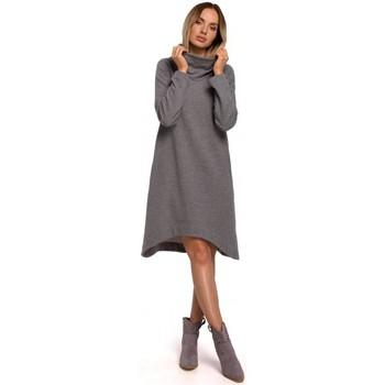 textil Mujer Vestidos cortos Moe M551 Vestido de punto con dobladillo asimétrico - gris