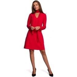 textil Mujer Vestidos cortos Style S233 Vestido con bufanda de gasa - rojo