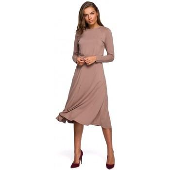 textil Mujer Vestidos largos Style S234 Vestido ajustado y acampanado - capuchino