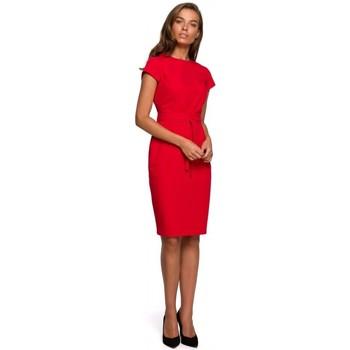 textil Mujer Vestidos cortos Style S240 Vestido con escote frontal - negro