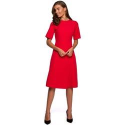 textil Mujer Vestidos cortos Style S240 Vestido con escote frontal - azul marino