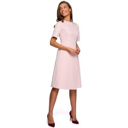 textil Mujer Vestidos cortos Style S241 Mono de una sola pieza con doble frente - negro